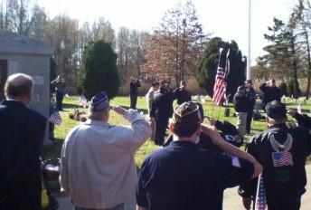 Vets saluting