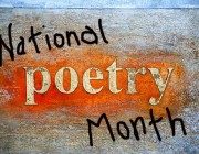 Natl Poetry Month - colorful words