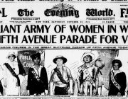 Suffrage March NYC Oct 2015 Evening World