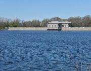Silver Lake Park water bridge and resevoir bldgs